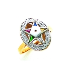 Order of the Eastern Star Masonic Ring - GLC241ES