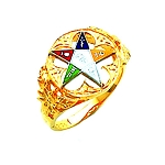 Order of the Eastern Star Masonic Ring - HOM299ES