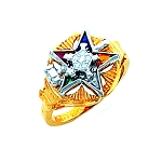 Order of the Eastern Star Masonic Ring - HOM300ESPM