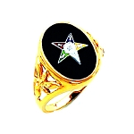 Order of the Eastern Star Masonic Ring - HOM302ES