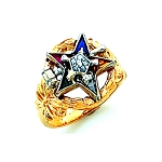 Order of the Eastern Star Masonic Ring - HOM308ESPM