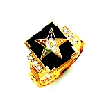 Order of the Eastern Star Masonic Ring - HOM361ES
