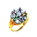 Order of the Eastern Star Masonic Ring - HOM406ES