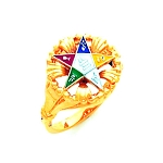Order of the Eastern Star Masonic Ring - HOM407ES