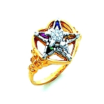 Order of the Eastern Star Masonic Ring - HOM447ES