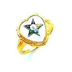 Order of the Eastern Star Masonic Ring - HOM461ES
