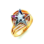 Order of the Eastern Star Masonic Ring - HOM466ES