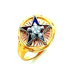 Order of the Eastern Star Masonic Ring - HOM481ES