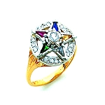 Order of the Eastern Star Masonic Ring - HOM521ES
