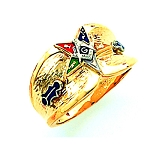 Order of the Eastern Star Masonic Ring - HOM526PP
