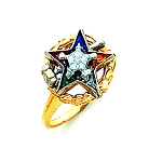 Order of the Eastern Star Masonic Ring - HOM549ESPM