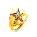 Order of the Eastern Star Masonic Ring - HOM576ES