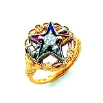 Order of the Eastern Star Masonic Ring - HOM626ESPM