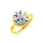 Order of the Eastern Star Masonic Ring - MAS1271ES