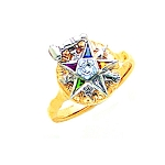 Order of the Eastern Star Masonic Ring - MAS1271PM