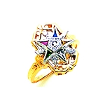 Order of the Eastern Star Masonic Ring - MAS1325ES