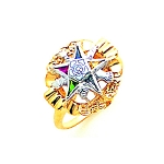 Order of the Eastern Star Masonic Ring - MAS1794ES