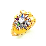 Order of the Eastern Star Masonic Ring - MAS2081ES