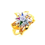 Order of the Eastern Star Masonic Ring - MAS2140ES