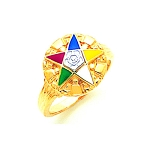 Order of the Eastern Star Masonic Ring - MAS2160ES