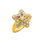 Order of the Eastern Star Masonic Ring - MAS2166ES