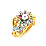 Order of the Eastern Star Masonic Ring - MAS2368ES