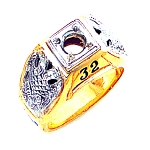 Scottish Rite Masonic Ring - GLC953SR