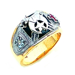 Shriner Masonic Ring - GLC645KTSH
