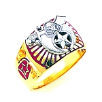 Shriner Masonic Ring - GLC660SH