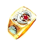 Shriner Masonic Ring - HOM442SH