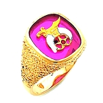 Shriner Masonic Ring - HOM632SH