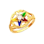 Order of the Eastern Star Masonic Ring - MASCJ313ES