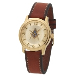 Bulova Square & Compass Gold Leather Watch MSW102(Tan)
