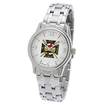 Bulova Knights Templar Silver Fold Over Watch MSW260