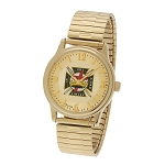 Bulova Knights Templar Gold Expansion Watch MSW261F