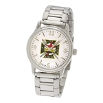 Bulova Knights Templar Silver Fold Over Watch MSW262B