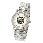 Bulova Knights Templar Silver Expansion Watch MSW262F