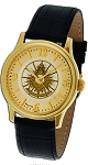 Bulova Past Master Gold Leather Watch MSW110