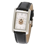 Bulova Past Master Silver Leather Watch MSW212