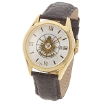 Bulova Shining Past Master with Square Gold Leather Watch MSW310(Brown)