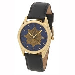 Bulova Shining Past Master Gold Leather Watch MSW311(Black)
