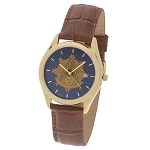 Bulova Shining Past Master Gold Leather Watch MSW311(Cognac)