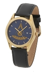 Bulova Past Master Gold Leather Watch MSW312(Black)