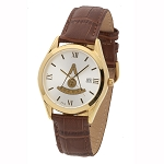 Bulova Past Master Gold Leather Watch MSW313(Cognac)