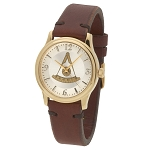 Bulova Past Master Gold Leather Watch MSW315(Brown)