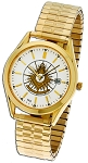 Bulova Past Master Gold Expansion Watch MSW72F