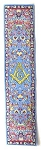 Square & Compass Blue Masonic Bookmark - [7'' x 2'']