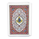 Square & Compass Beige Mini Carpet Tapestry Masonic Gift Card