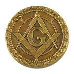 Time Patience Perseverance Masonic Coin - [Antique Brass][2'' Diameter]