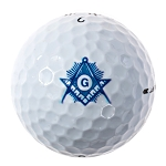 Shining Square & Compass Masonic Golf Ball Three Pack